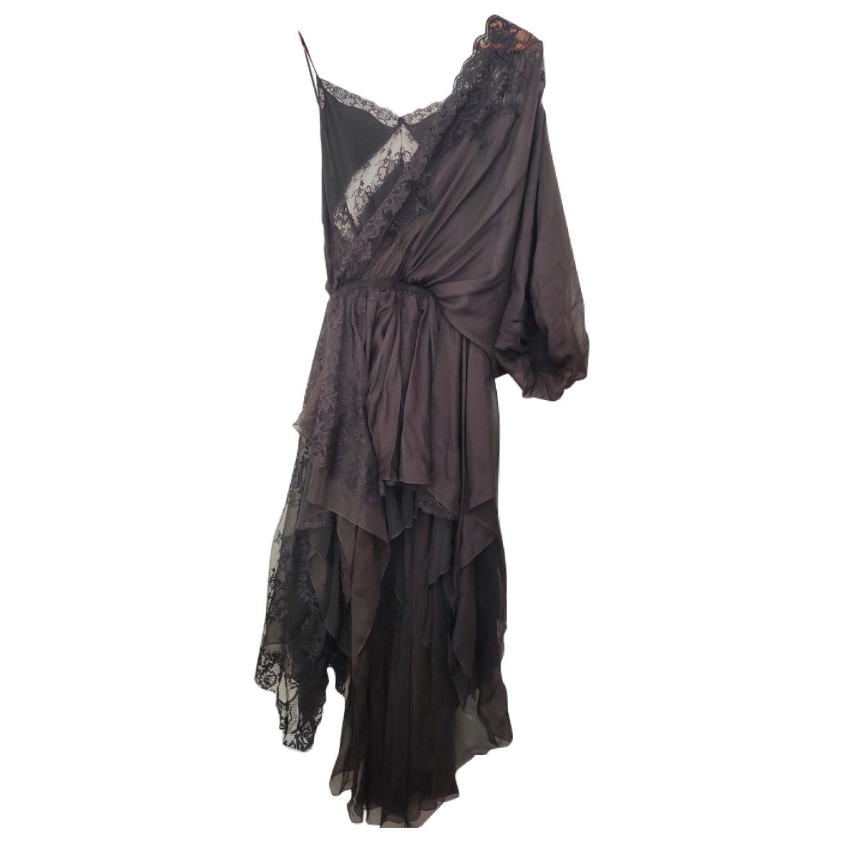 Faith Connexion - Robe   pour femme en soie - noir