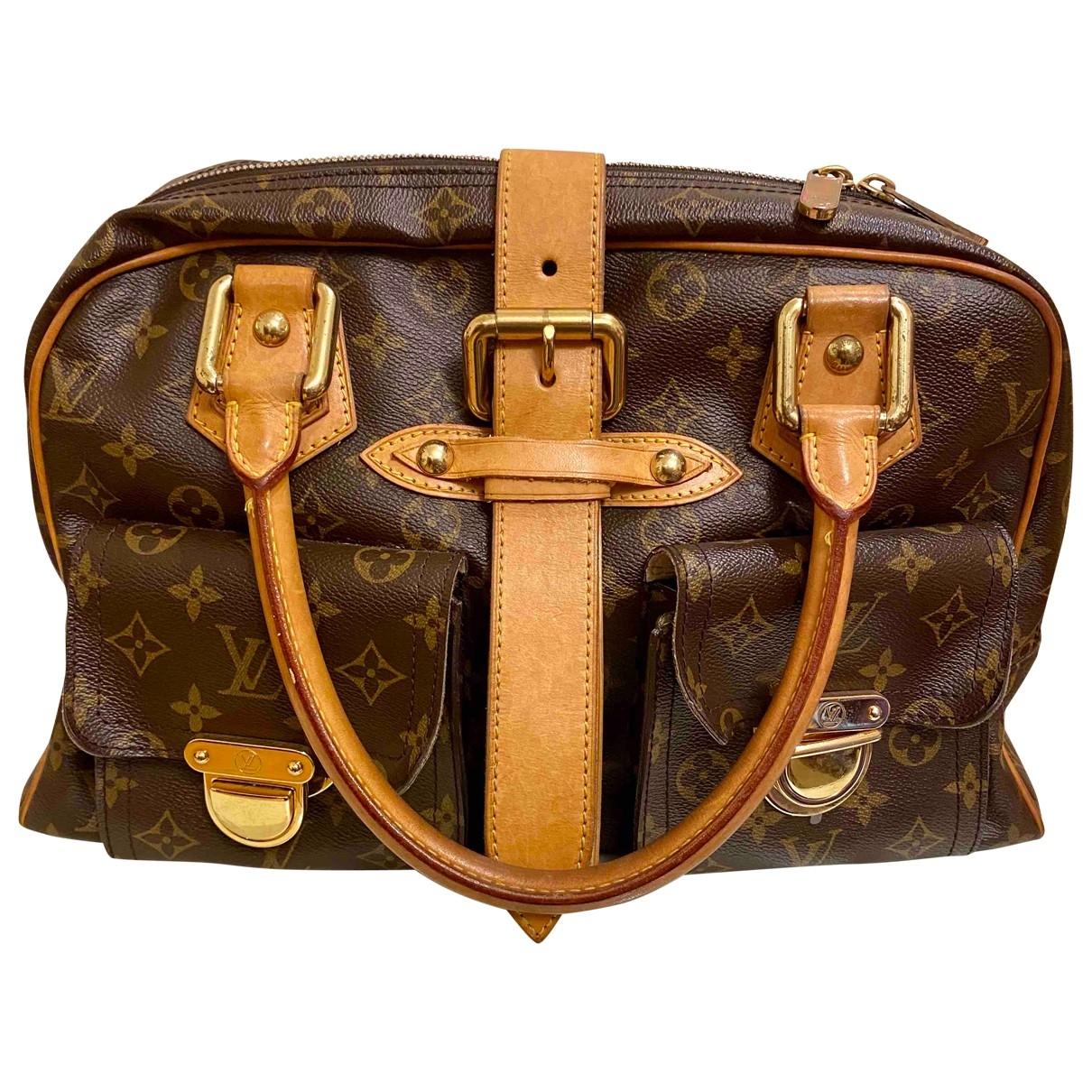 Louis Vuitton Manhattan Brown Cloth handbag for Women \N