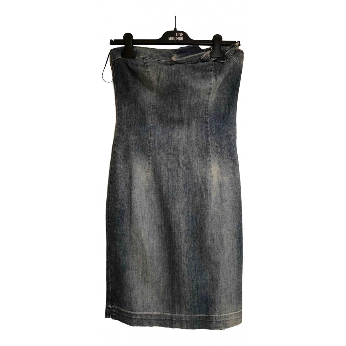 Moschino Love \N Kleid in  Blau Denim - Jeans