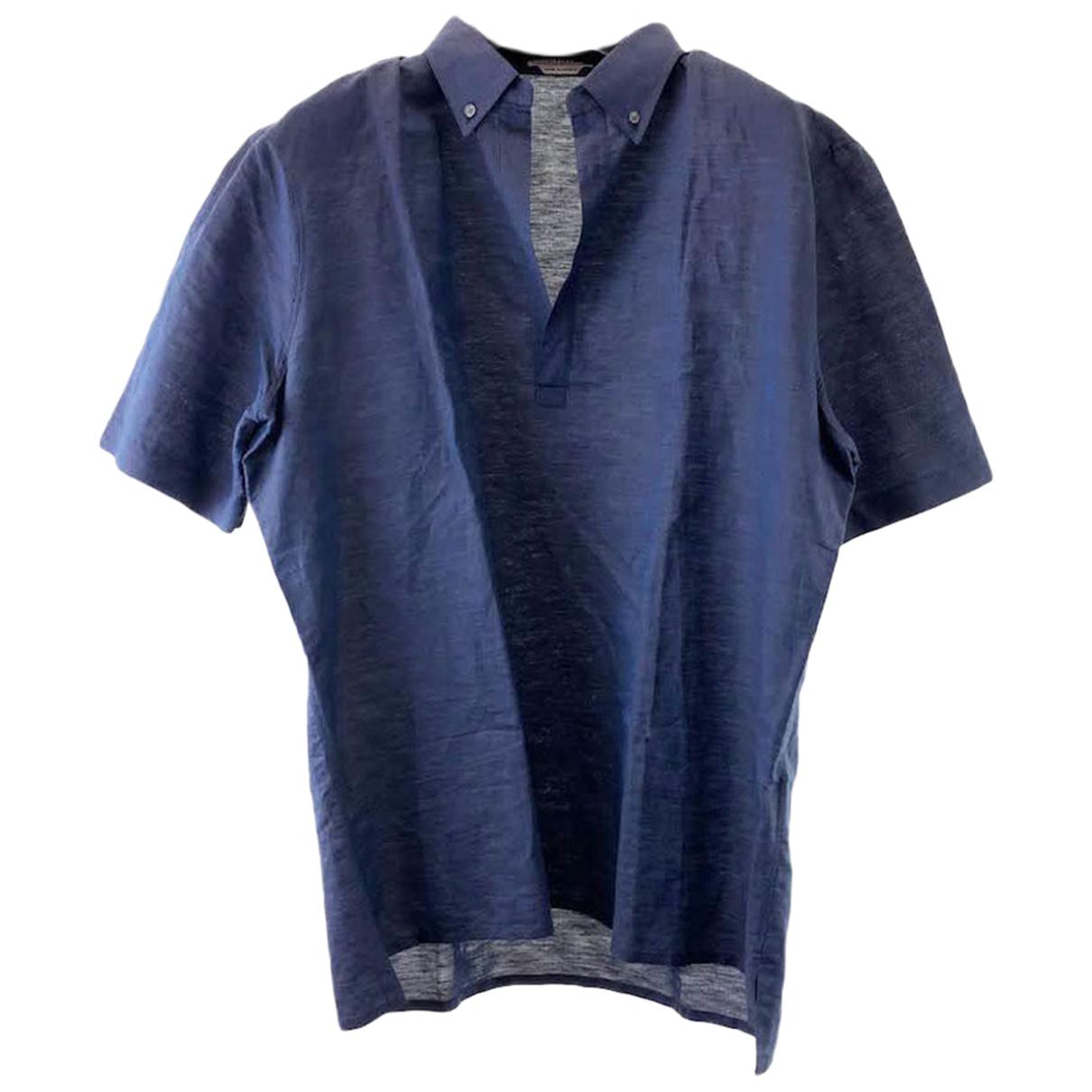 Hermes - Chemises   pour homme en lin - marine