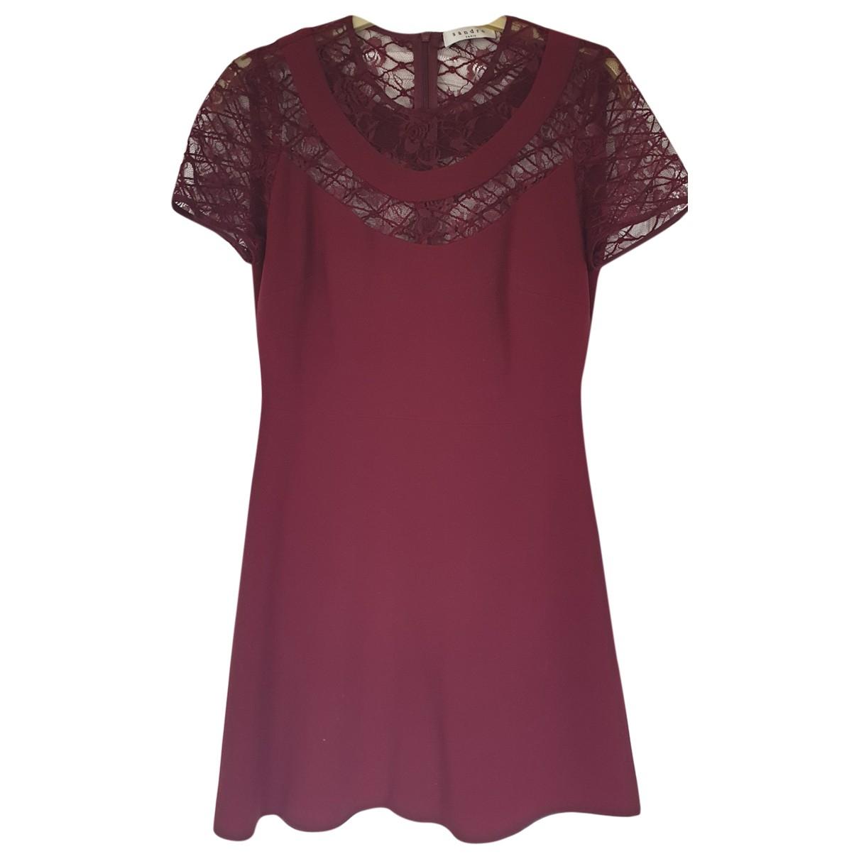 Sandro \N Burgundy dress for Women 34 FR