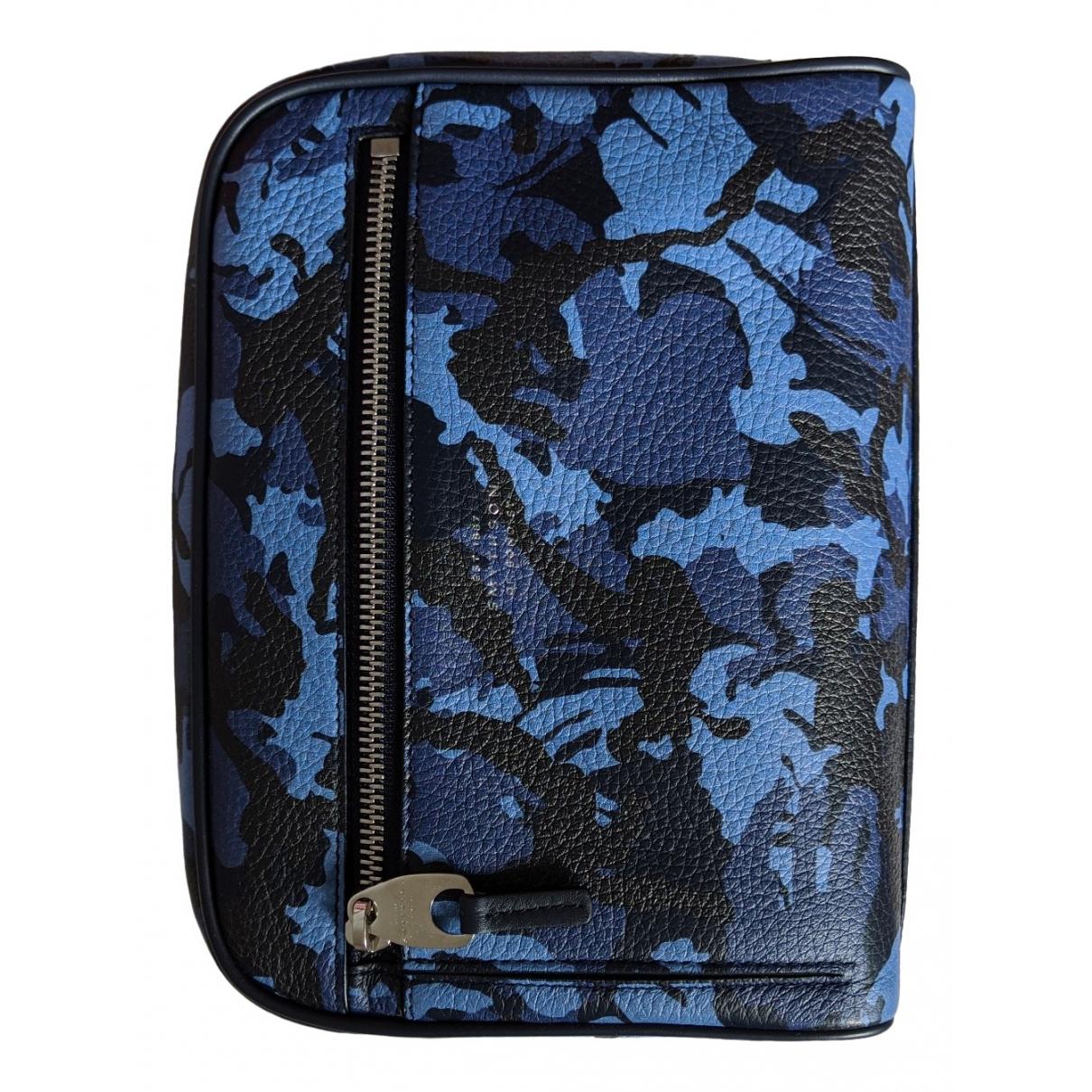 Smythson \N Blue Leather bag for Men \N
