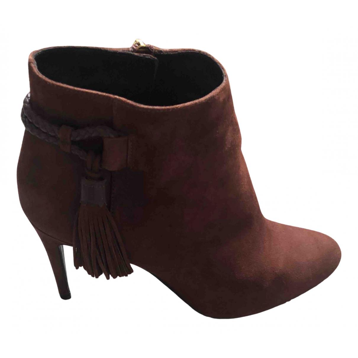 Lk Bennett - Boots   pour femme en suede - marron