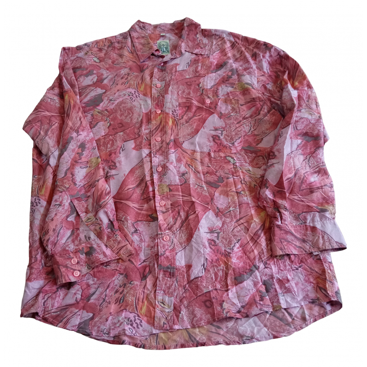 Non Signé / Unsigned \N Pink Silk Shirts for Men L International