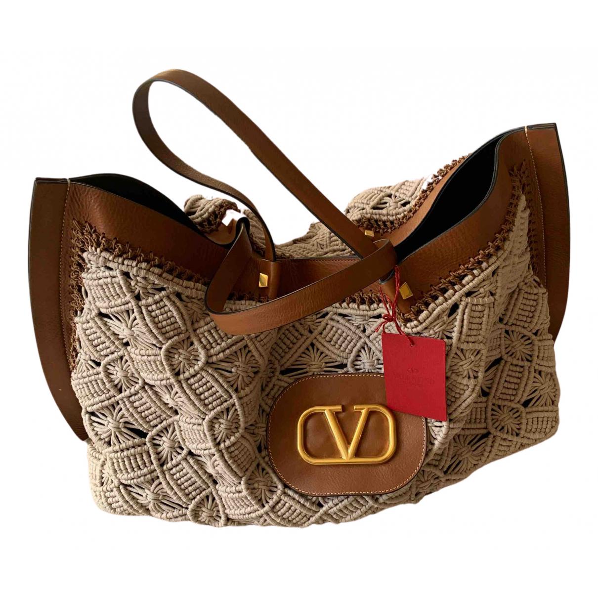 Valentino Garavani \N Brown Cloth handbag for Women \N