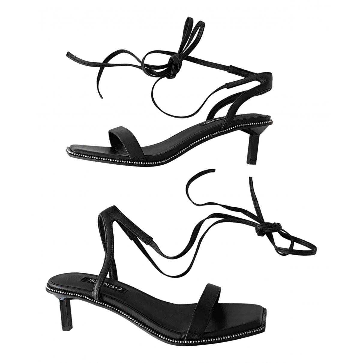 Senso \N Sandalen in  Schwarz Leder