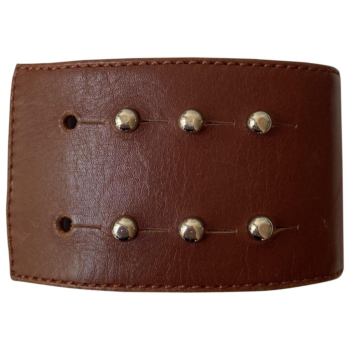 Gianvito Rossi - Bracelet   pour femme en cuir - marron