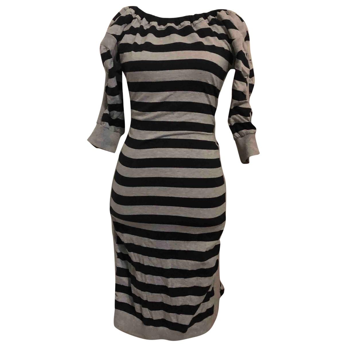 Vivienne Westwood Red Label \N Kleid in  Grau Baumwolle