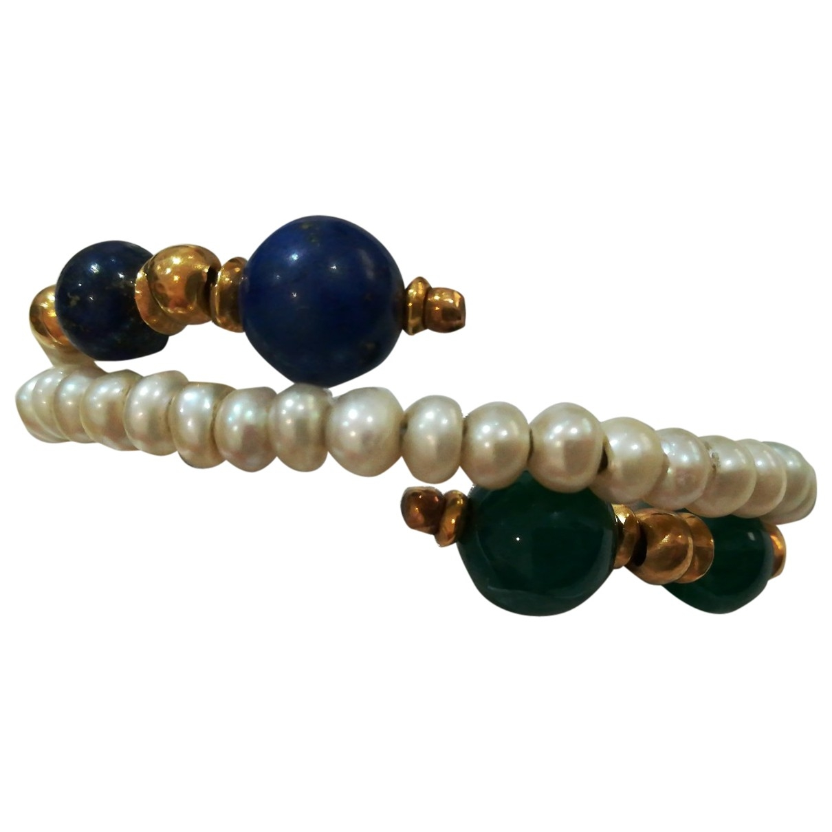 Non Signé / Unsigned \N Blue Pearl bracelet for Women \N