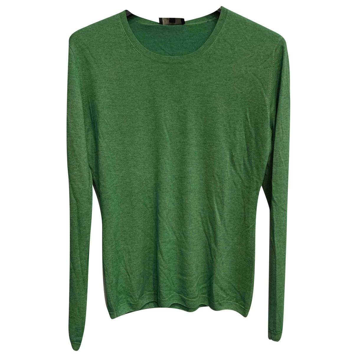 Fay N Green Silk Knitwear for Women 46 IT