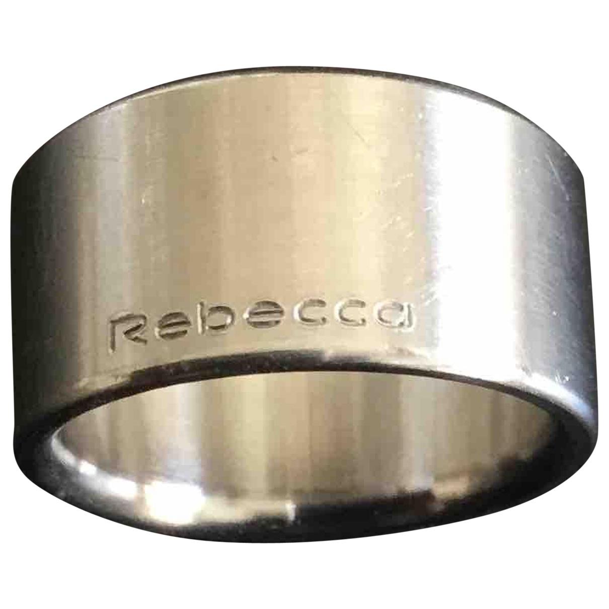 Rebecca - Bague   pour femme en acier - argente