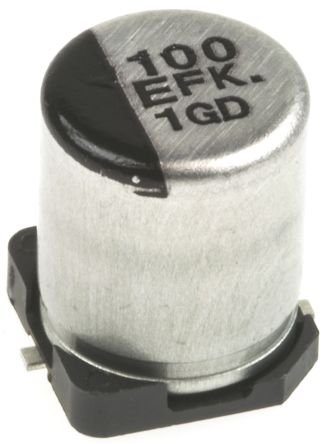 Panasonic 150μF Electrolytic Capacitor 10V dc, Surface Mount - EEEFK1A151P (25)