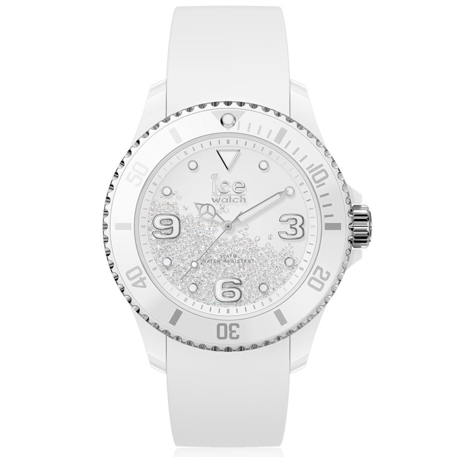 Ice-Watch Womens Crystal 017246 White Silicone Quartz Fashion Watch