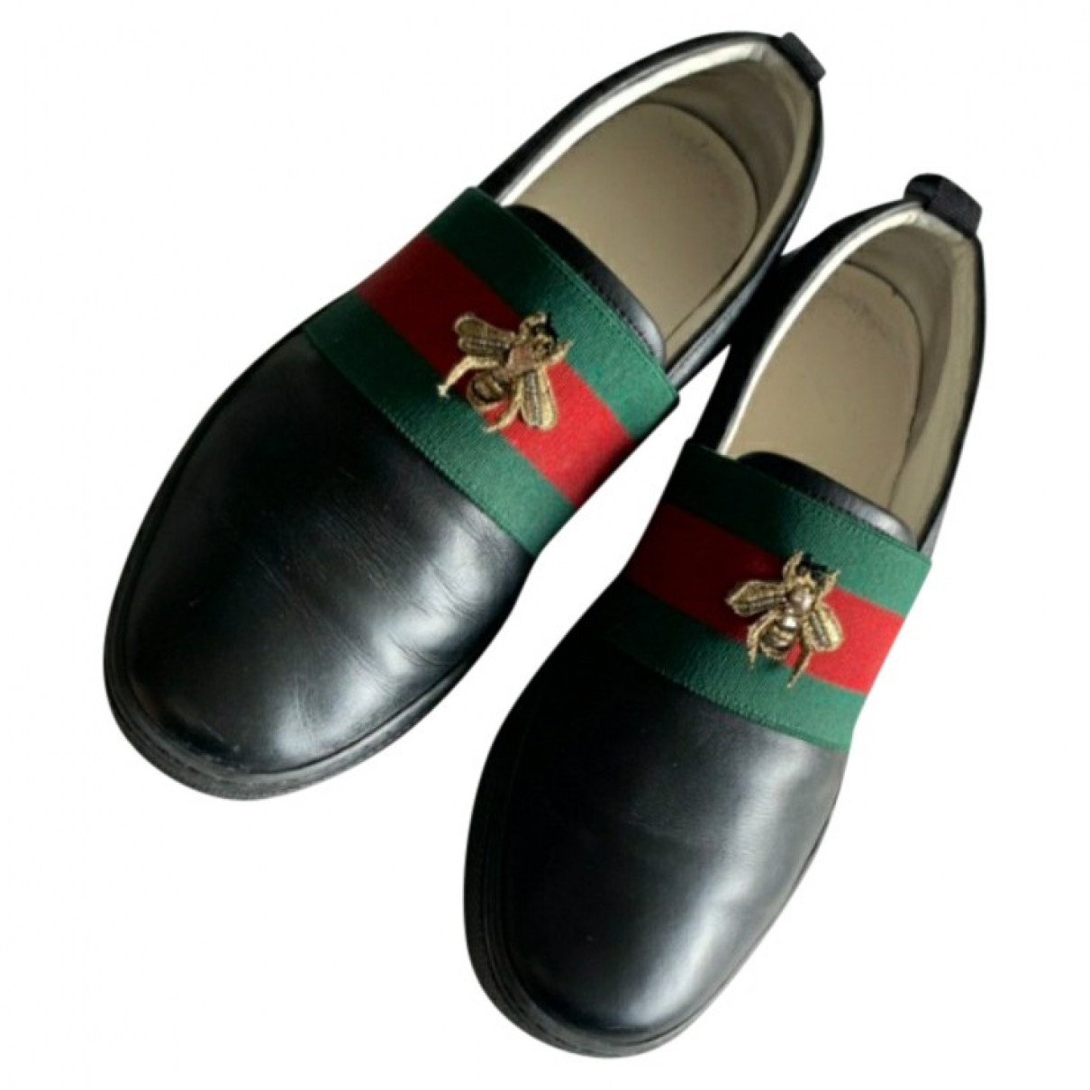 Gucci \N Black Leather Trainers for Men 6 UK