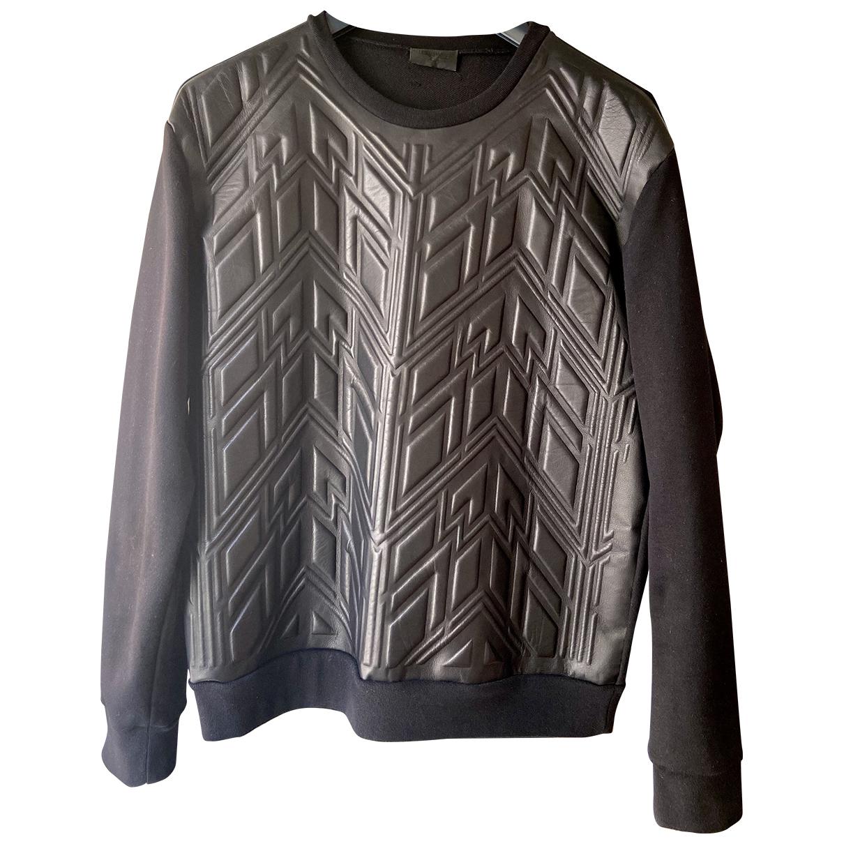 Les Hommes \N Pullover.Westen.Sweatshirts  in  Schwarz Leder