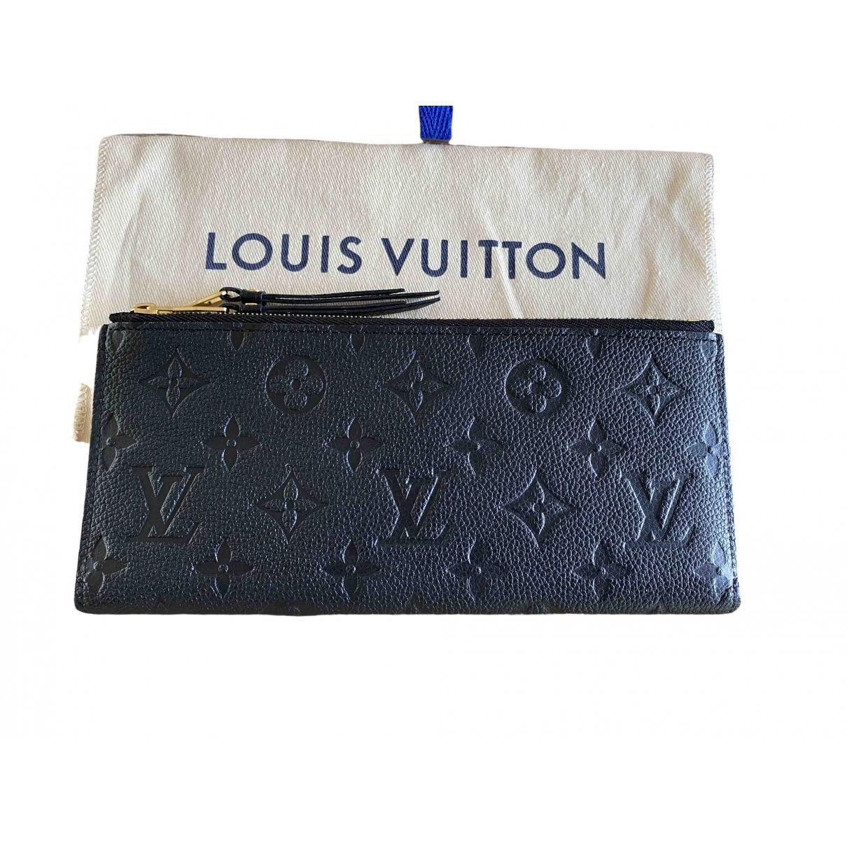 Louis Vuitton - Portefeuille Adele pour femme en cuir - noir