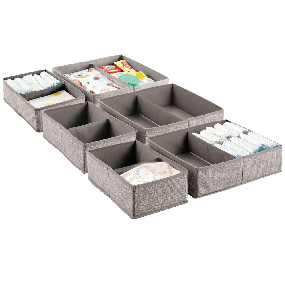 Kids Fabric Closet and Dresser Drawer Storage Organizer in Linen, 7.5