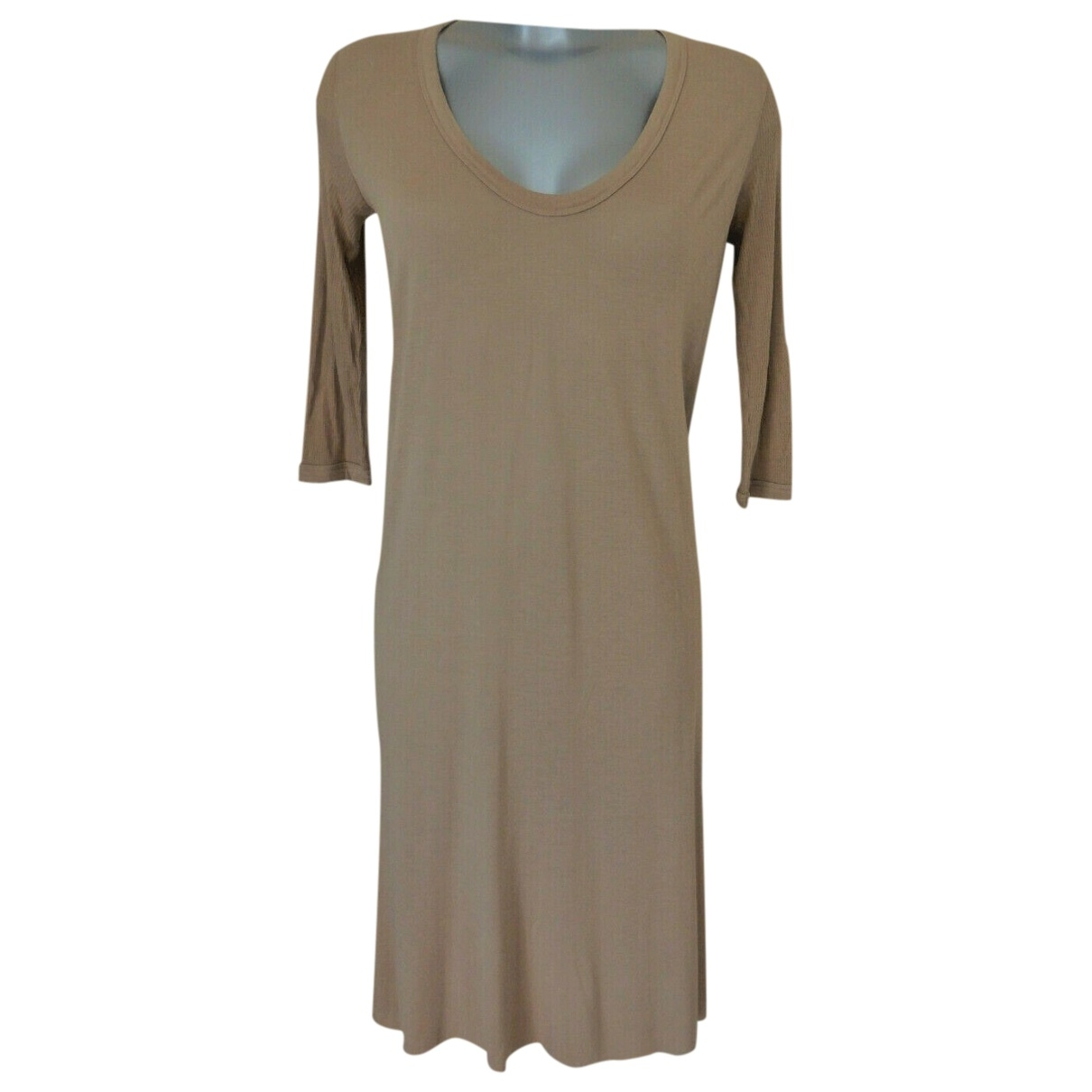 Rick Owens \N Kleid in  Beige Viskose