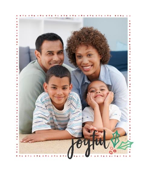 Holiday Framed Canvas Print, Oak, 20x24, Home Décor -Joyful Holly