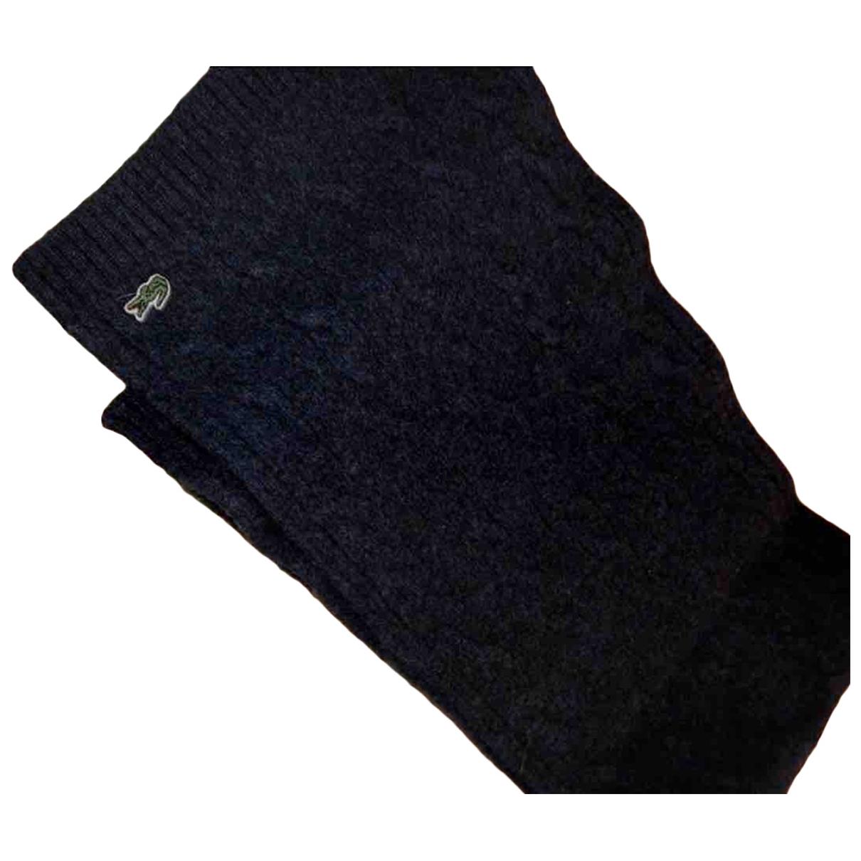 Lacoste - Cheches.Echarpes   pour homme en laine - gris