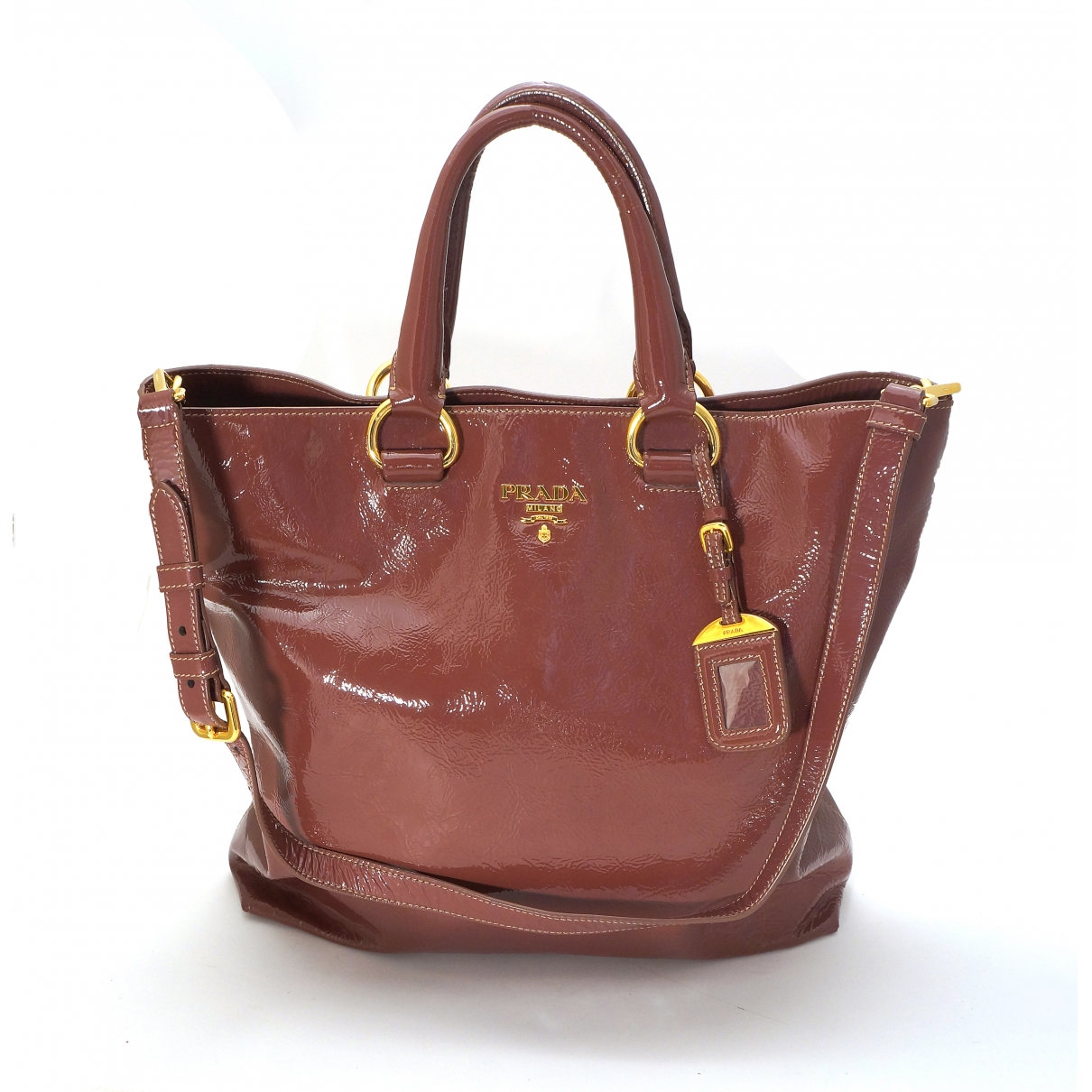 Prada \N Purple Patent leather handbag for Women \N