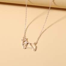 Stainless Steel Dog Charm Necklace