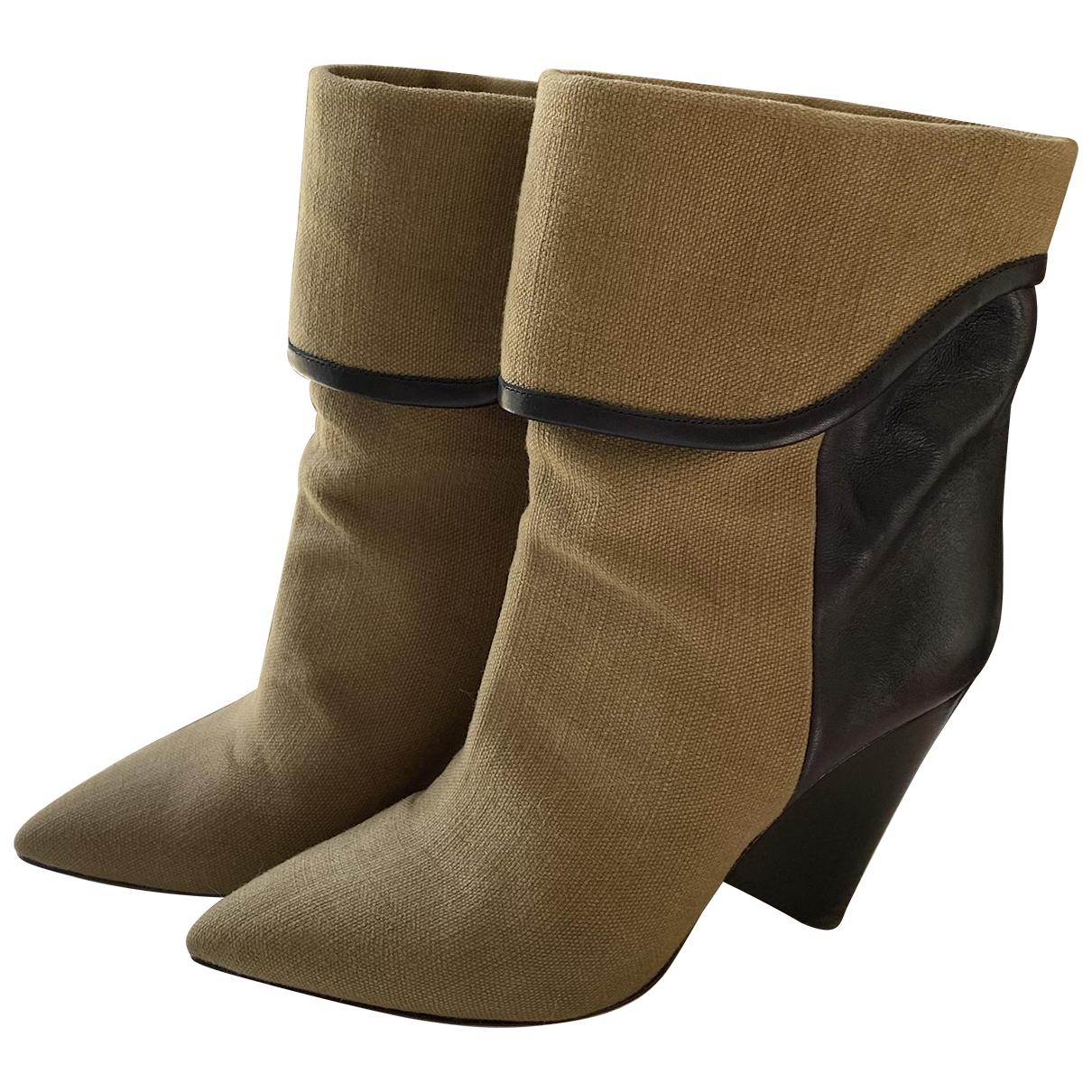 Isabel Marant - Boots   pour femme en toile - kaki