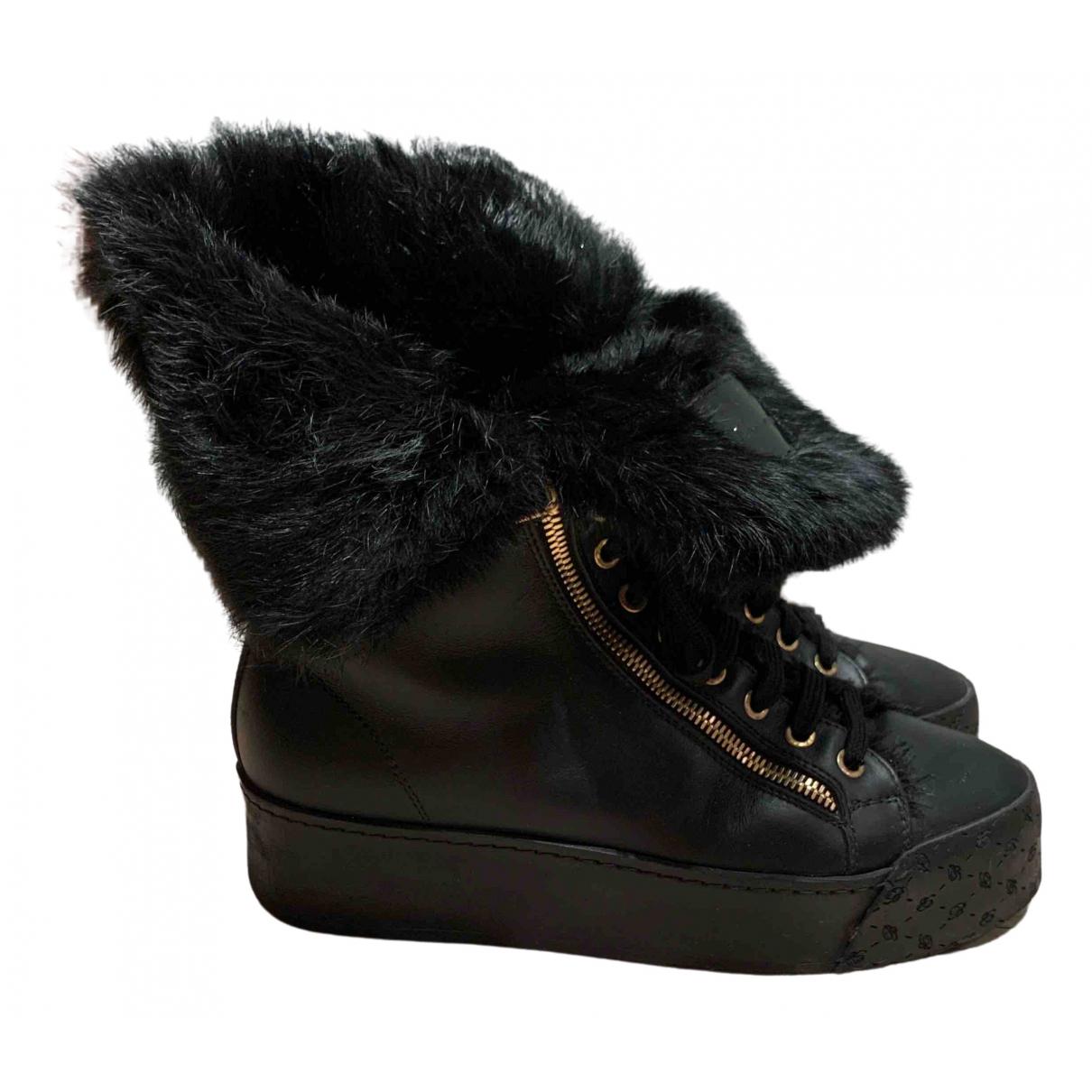 Blumarine - Boots   pour femme en cuir - noir