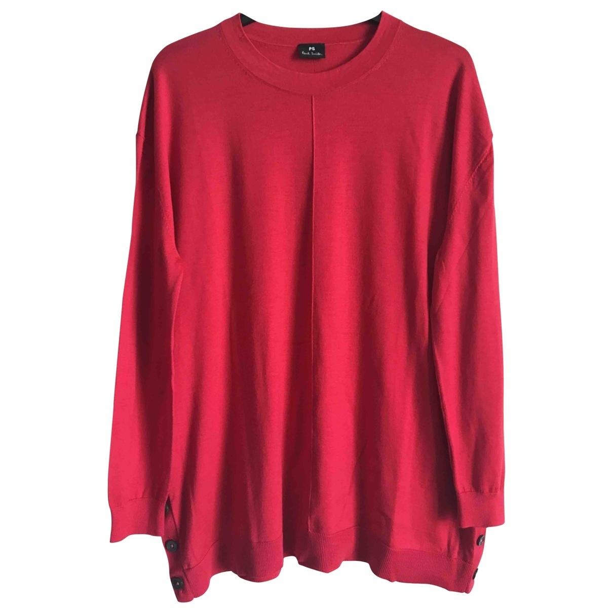 Paul Smith - Pull   pour femme en laine - rouge