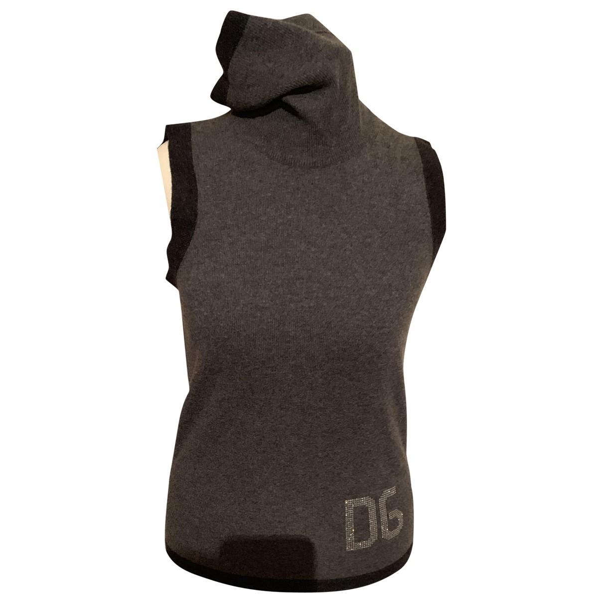 Dolce & Gabbana - Pull   pour femme en cachemire - gris