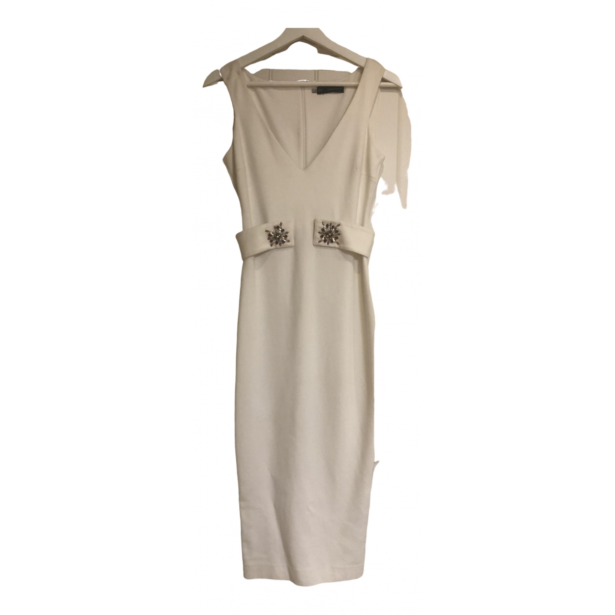 Dsquared2 \N Ecru Cotton dress for Women S International
