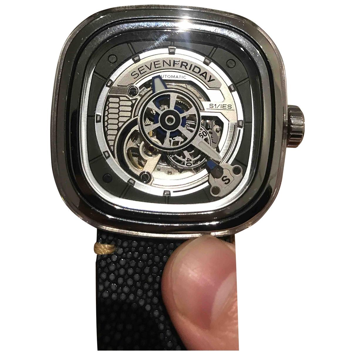 Sevenfriday \N Silver Steel watch for Men \N