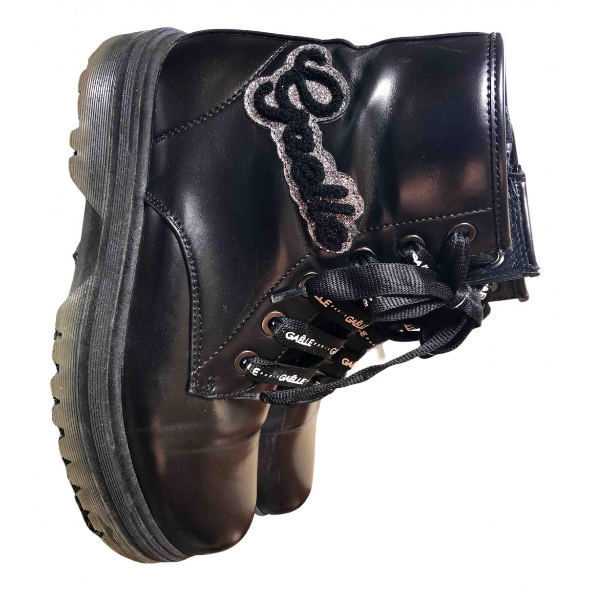Gaelle Paris N Black Leather Boots for Women 37 IT