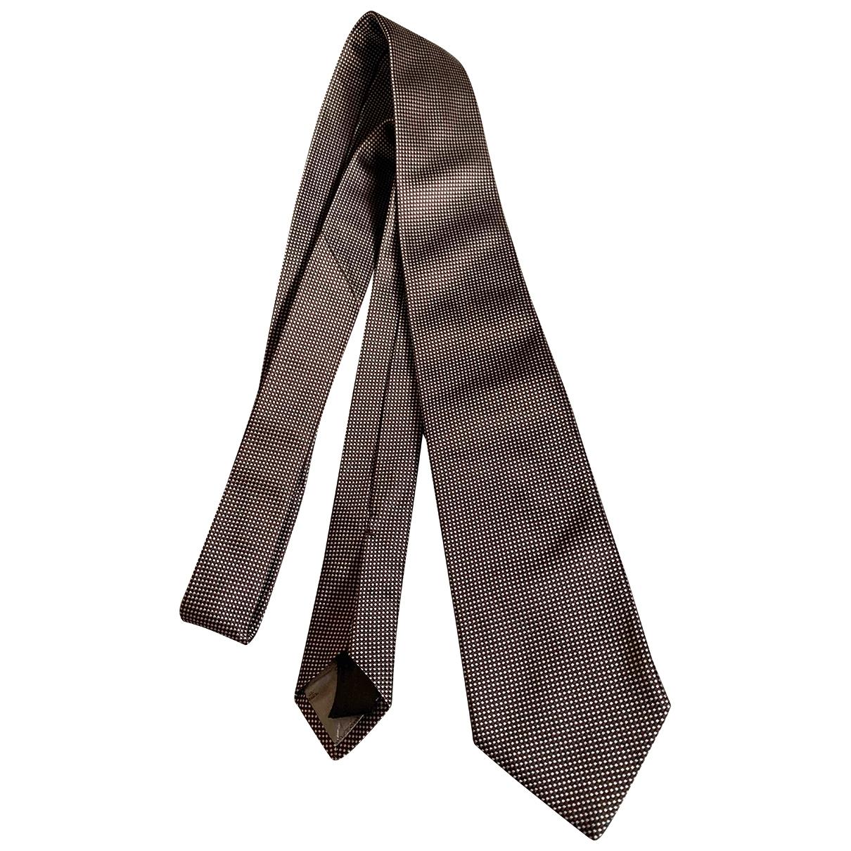 Massimo Dutti \N Krawatten in  Braun Seide