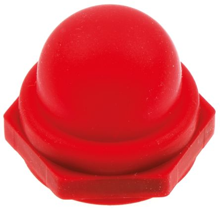 KNITTER-SWITCH Push Button Boot, for use with Miniature Push Button Switch,Red