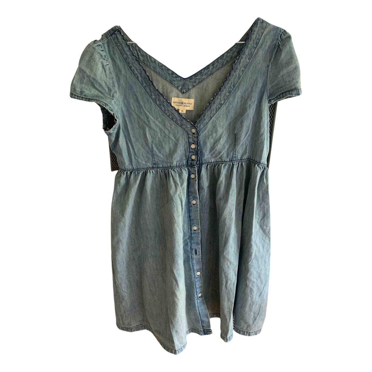Ralph Lauren Denim & Supply \N Kleid in  Blau Denim - Jeans