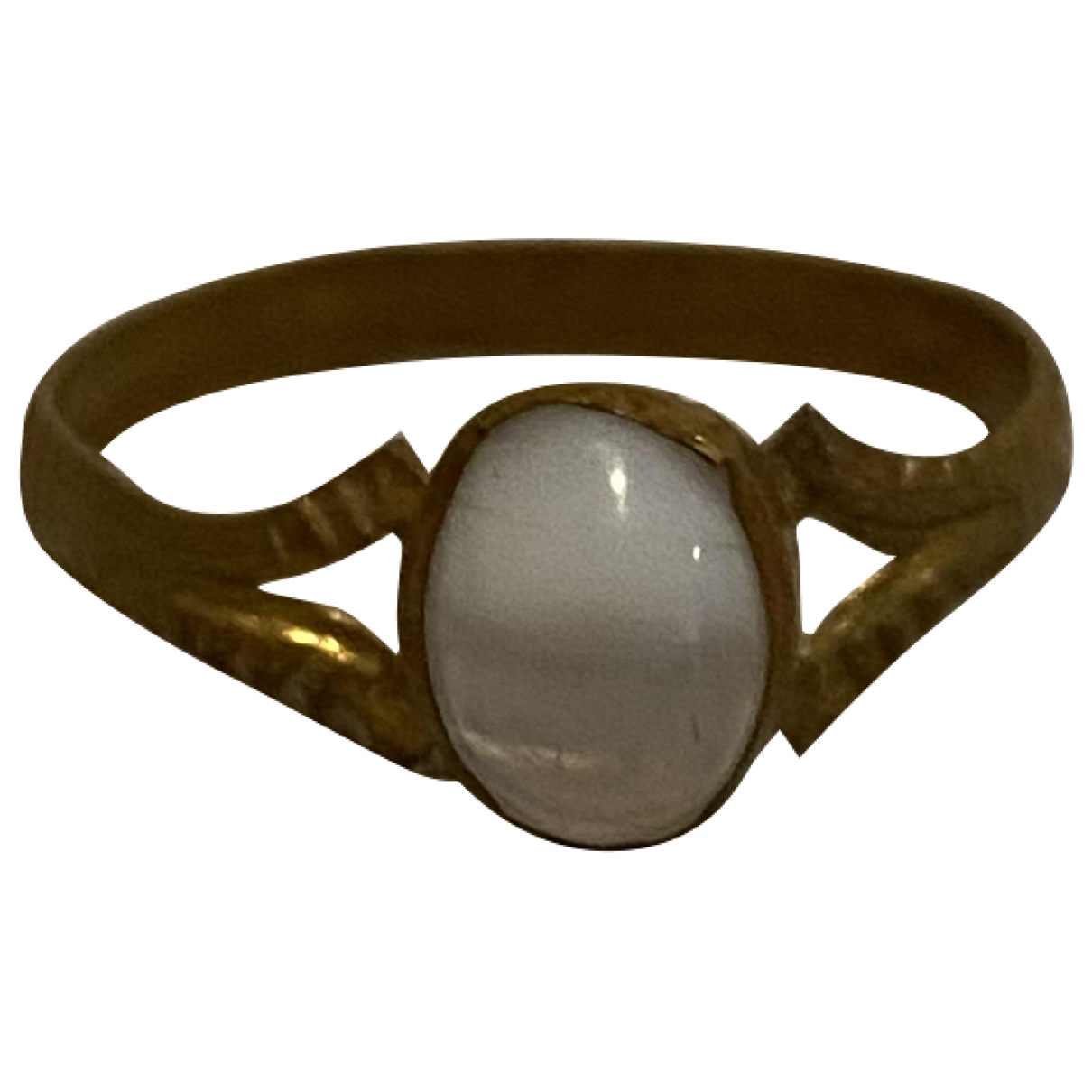 - Bague Opale pour femme en metal - dore