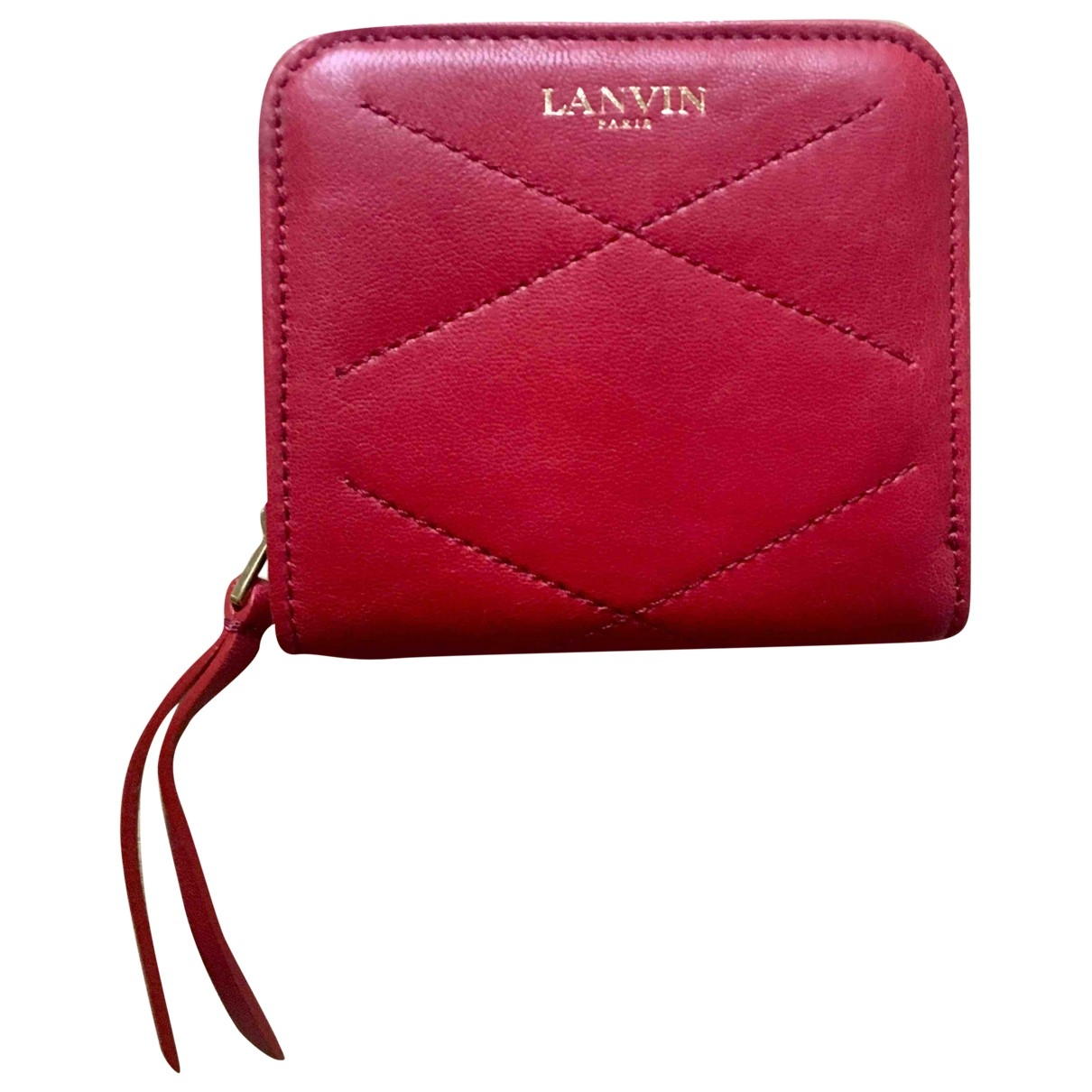 Lanvin \N Red Leather wallet for Women \N