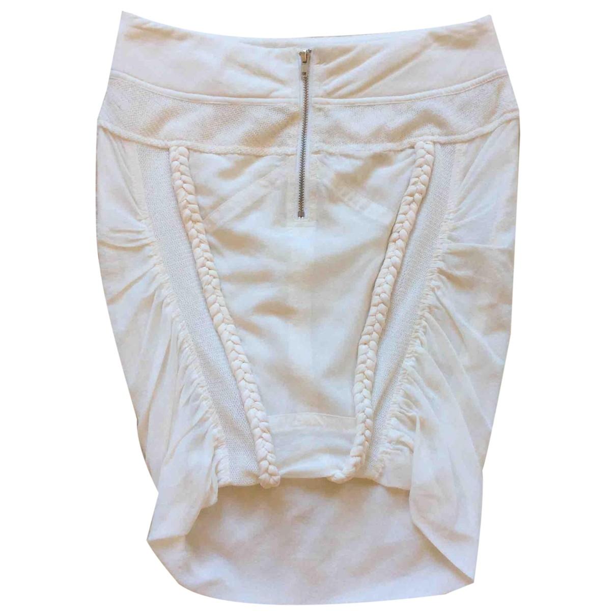 Iro - Jupe   pour femme en soie - blanc