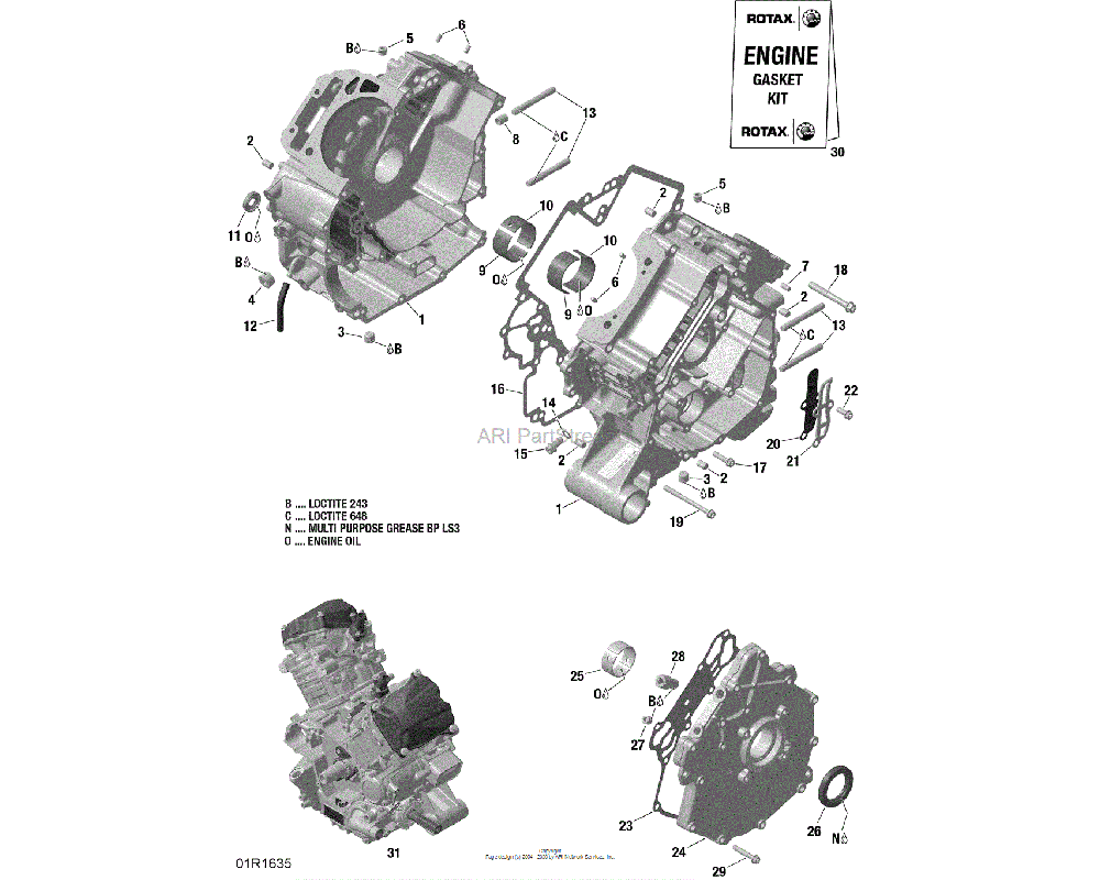 Can-AM OEM Crankcase Assembly