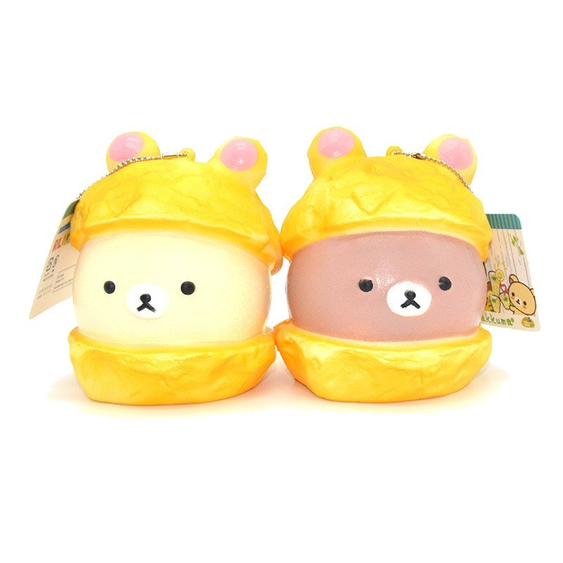 Squishy Bear Macaron Cake 9cm Slow Rising Soft Collection Gift Decor Toy