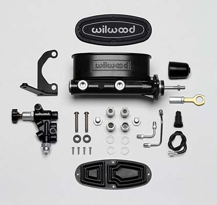 Wilwood 261-13272-BK Aluminum Tandem M/C w/Bracket and Valve (Mustang)