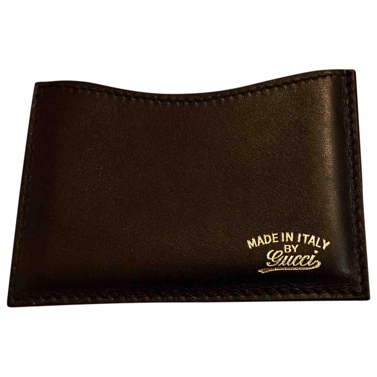 Gucci \N Armband in  Gold Leder