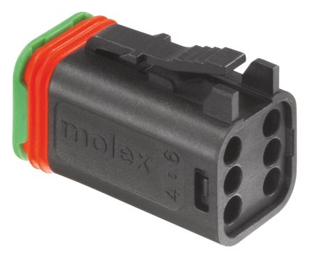Molex , ML-XT Automotive Connector Plug 3 Row 6 Way, Crimp Termination, Black