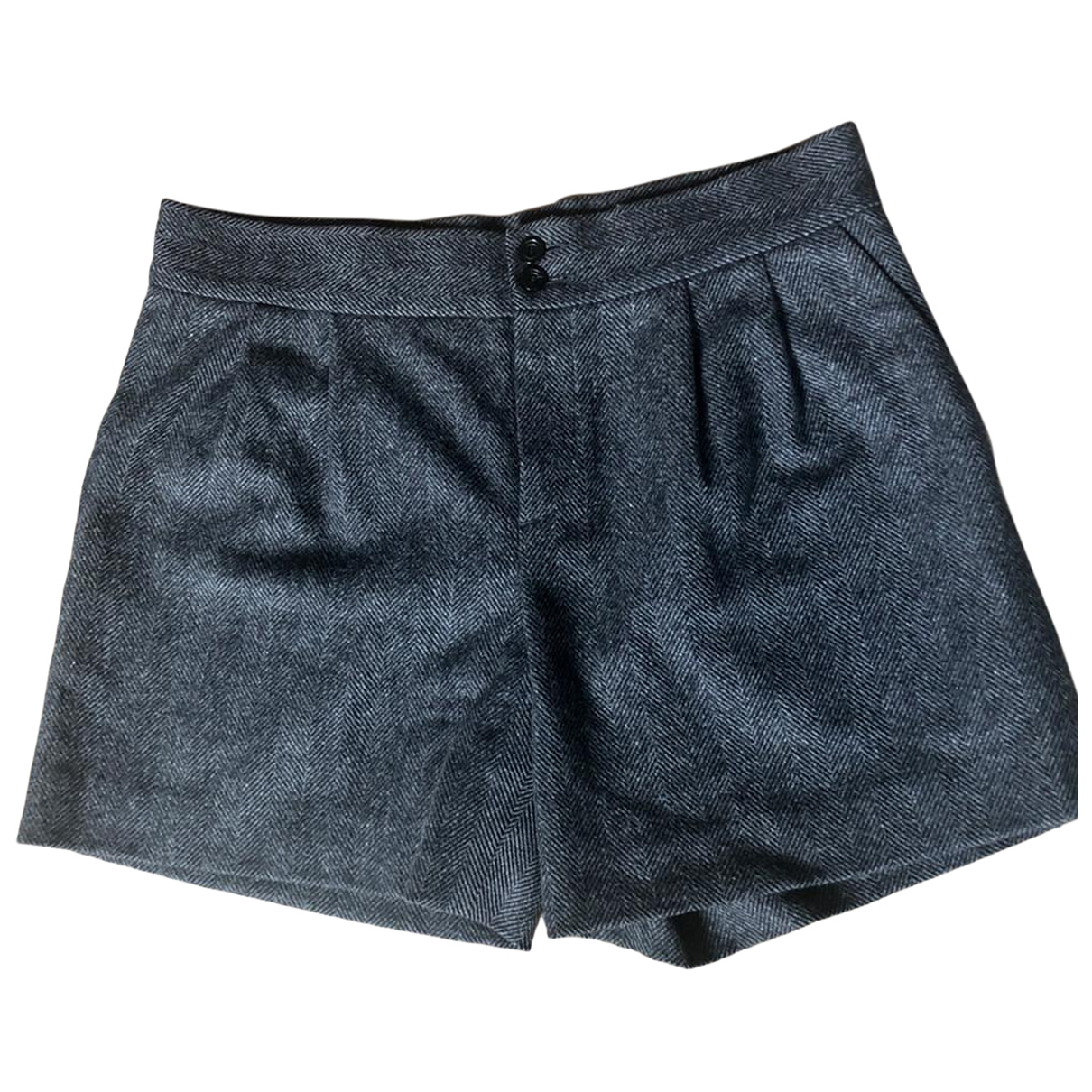 Apc \N Anthracite Wool Shorts for Women 36 FR