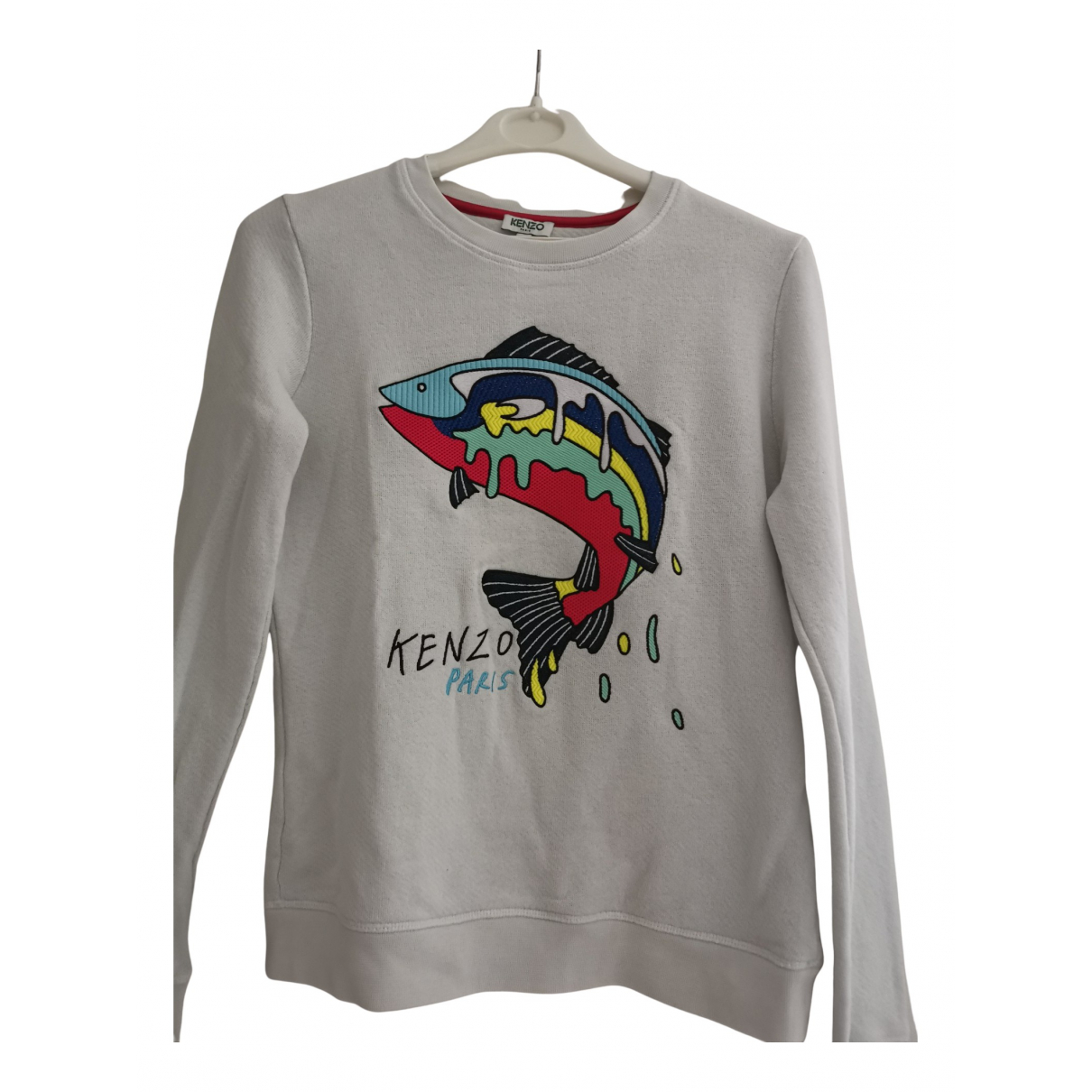 Kenzo N White Cotton Knitwear for Women 36 FR