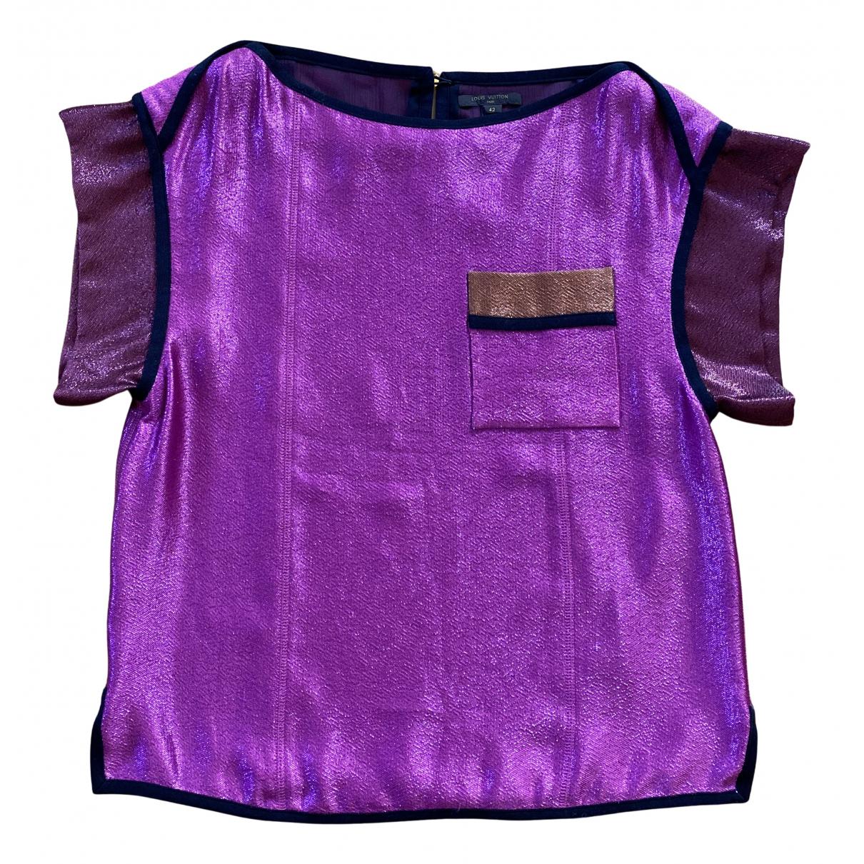 Louis Vuitton N Purple Silk  top for Women 42 FR