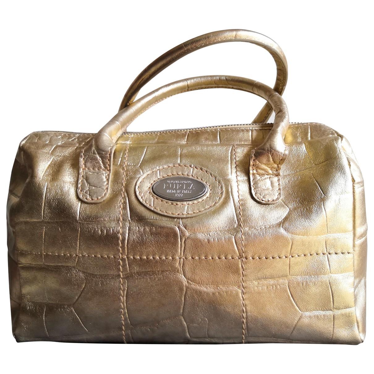 Furla \N Handtasche in  Gold Leder