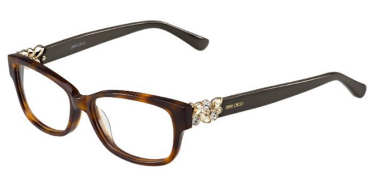 Jimmy Choo JC125 9N4 Women's Glasses Brown Size 52 - Free Lenses - HSA/FSA Insurance - Blue Light Block Available
