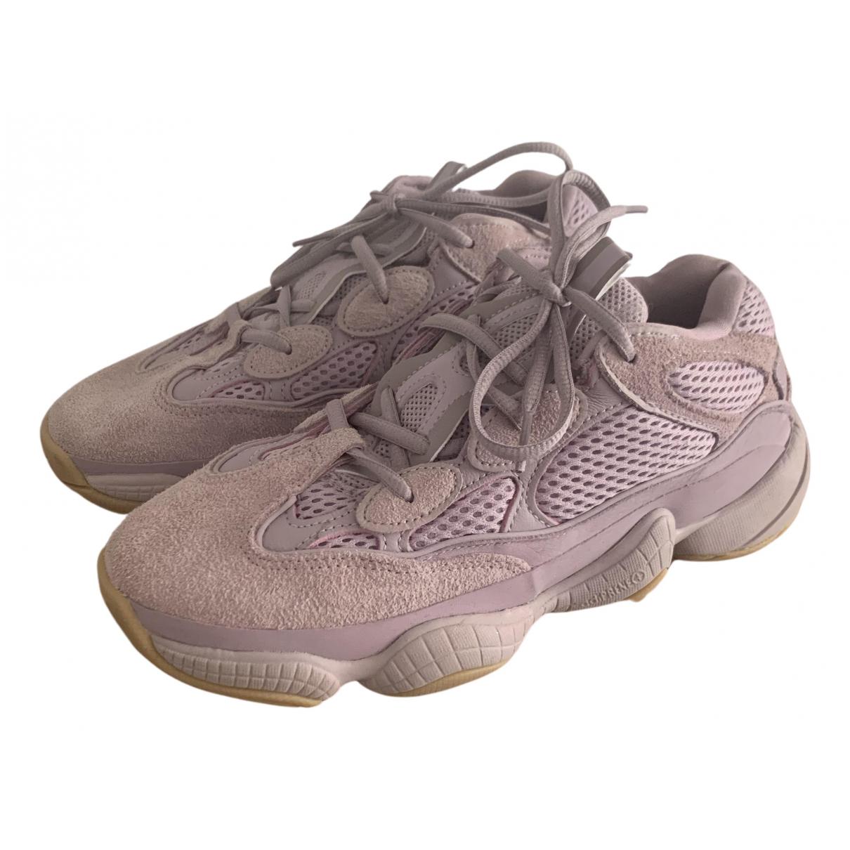 Yeezy X Adidas - Baskets 500 pour femme en suede - violet